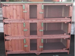 4ft treble rabbit / guinea pig hutch