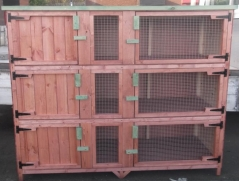 6ft treble rabbit / guinea pig hutch