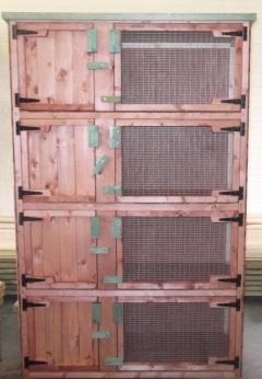 4ft quad rabbit / guinea pig hutch